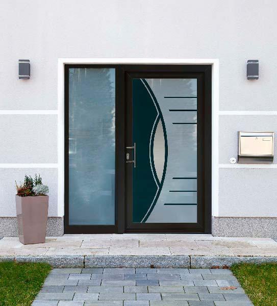 Porte contemporaine vitrée sur-mesure